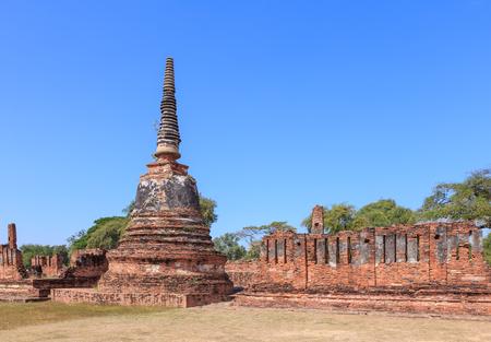 Ancient pagoda at Phra Si Sanphet temple, Ayutthaya, Thailand