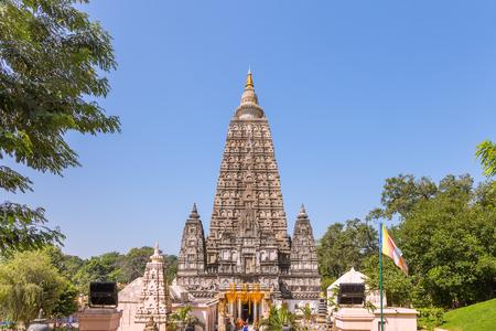 Mahabodhi temple, bodh gaya, India. The site where Gautam Buddha attained enlightenment.