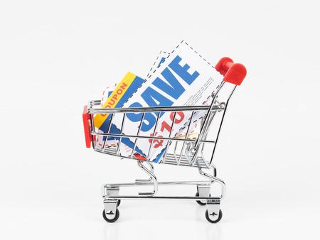 Wenn Sie einen Rabattgutschein im Warenkorb speichern, werden die Gutscheine nachgebildet