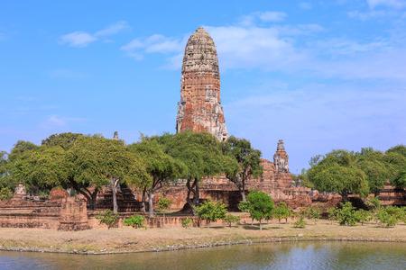 Ancient stupa at Wat Phra Ram temple, Ayutthaya, Thailand Stock Photo