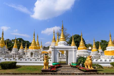 Wat Phra Chedi Sao Lang or twenty pagodas temple at Lampang, Thailand