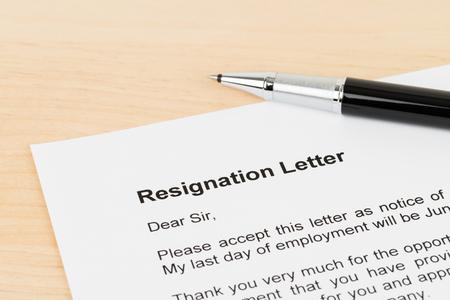 Resignation letter resign with pen stock photo picture and royalty resignation letter resign with pen stock photo 99992410 expocarfo Gallery