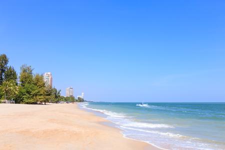 Cha-am beach near Hua Hin Stockfoto