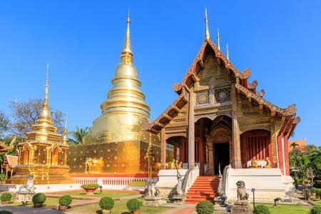 Wat Phra Singh Woramahawihan in Chiang Mai, North of Thailand