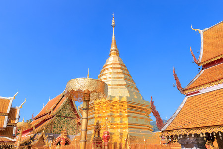 Wat Phra That Doi Suthep is famous temple in Chiang Mai, north of Thailand Reklamní fotografie