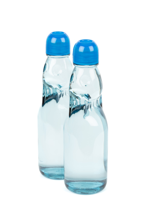 Ramune carbonated soft drink in codd-neck bottle Stok Fotoğraf