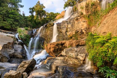 Mae Klang Waterfall, Doi Inthanon National Park, Chiang Mai, Thailand Reklamní fotografie