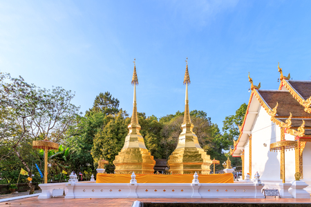 Phra That Doi Tung temple on mountain top in Chiang Rai, north of Thailand