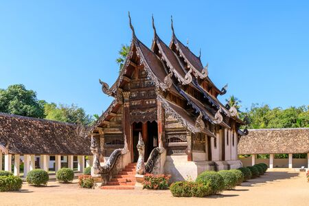 Wat Intharawat or Ton Kwen Temple in Chiang Mai, North of Thailand