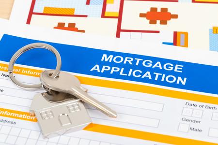 Mortgage application form, financial concept Stock fotó