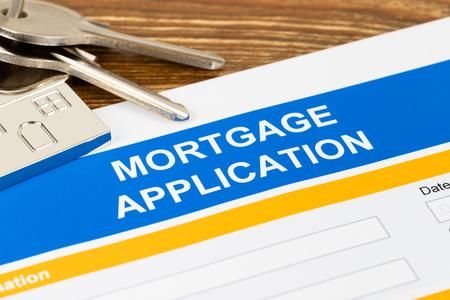Mortgage application form, financial concept Reklamní fotografie