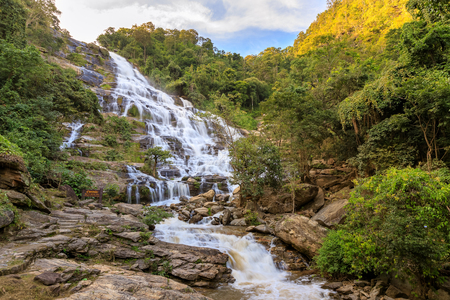 Mae Ya Waterfall, Doi Inthanon National Park, Chiang Mai, Thailand 版權商用圖片