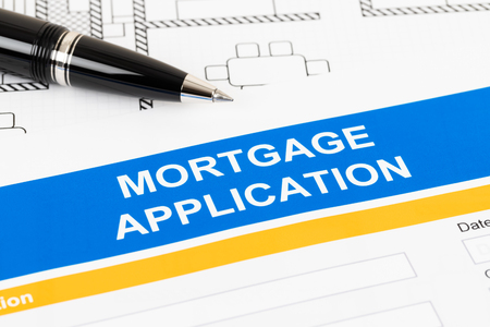 Mortgage application form, financial concept Stock Photo
