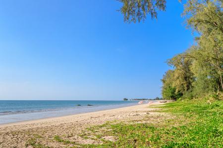 Clear blue sea at Bang Sak Beach near Khao Lak, Phang-Nga, Thailand Stock Photo