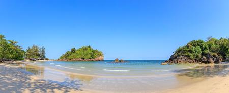 Clear turquoise blue sea at Bo Thong Lang Bay, Bang Saphan district, Prachuap Khiri Khan, Thailand Stok Fotoğraf