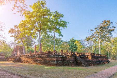 Wat Phra Si Ariyabot temple in Kamphaeng Phet Historical Park