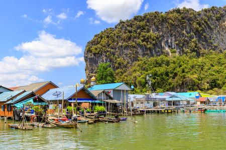 Muslim village at Ko Panyi island in Phang-Nga Bay, near Phuket, Thailand