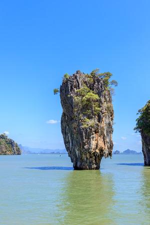 Amazing and beautiful Island, the most famous tourist destination in Phang-Nga Bay, near Phuket, Thailand
