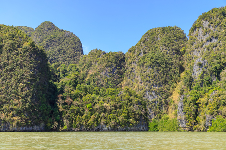 Amazing and beautiful mountain and island in Phang-Nga Bay, near Phuket, Thailand 版權商用圖片 - 122882785