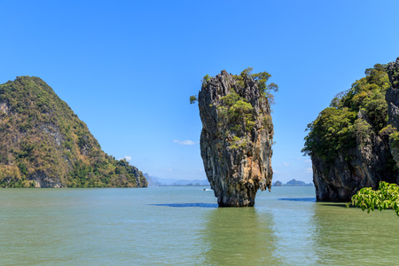 Amazing and beautiful  Island, the most famous tourist destination in Phang-Nga Bay, near Phuket, Thailand Standard-Bild