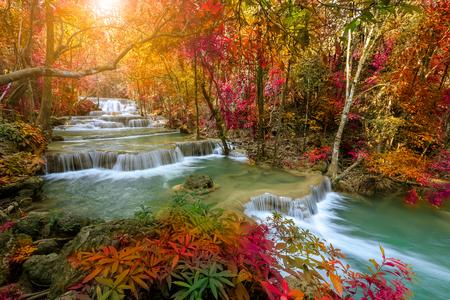 Huai Mae Khamin Wasserfall Stufe 1, Khuean Srinagarindra Nationalpark, Kanchanaburi, Thailand