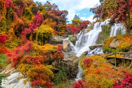 Mae Klang Waterfall, Doi Inthanon National Park, Chiang Mai, Thailand 写真素材