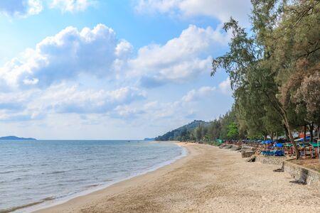Hat Sai Ri, famous beach in Chumphon, Thailand
