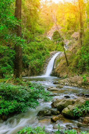 Waterfall in Chae Son National Park, Lampang, Thailand