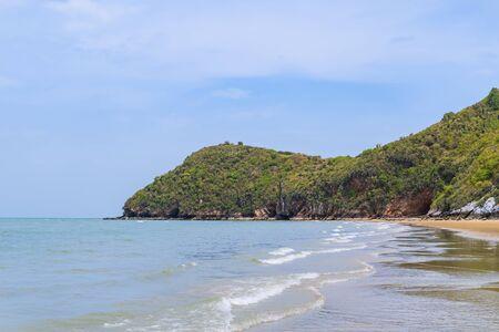 Paknampran Beach and Khao Kalok mountain at Thao Ko Sa Forest Park, near Hua Hin, Thailand