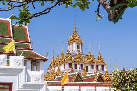 Loha Prasat or iron monastery at Wat Ratchanatdaram temple, on Ratchadamnoen avenue, Bangkok, Thailand