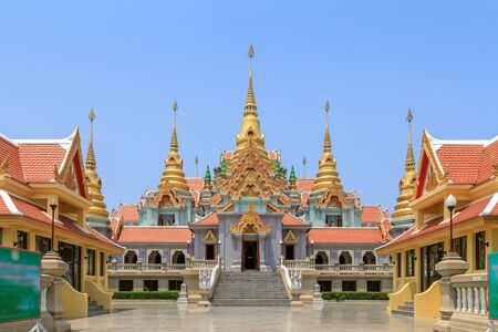 Phra Mahathat Chedi Phakdee Prakat Pagoda on top of mountain at Baan Grood, Prachuap Khiri Khan, Thailand