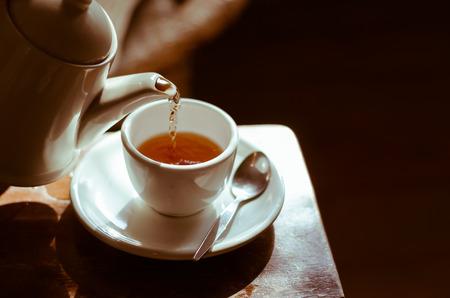 A hora da pausa para o chá. Foto de archivo - 37235188