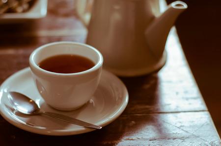 tea break: A Cup of Tea On Time of Tea Break. Stock Photo