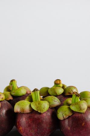 fruta tropical: Mangost�n, la fruta tropical.