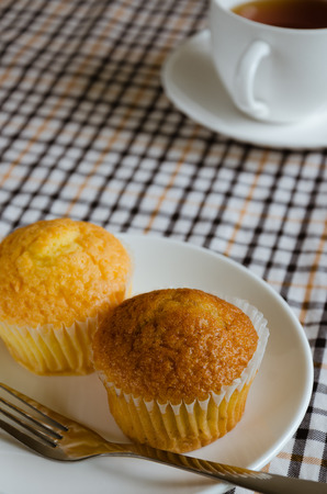 tea break: Butter Cup Cake and Tea for Tea Break.