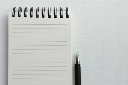Wirebound Notebook with Blank White Paper and Mechanical Pencil. Stock Photo