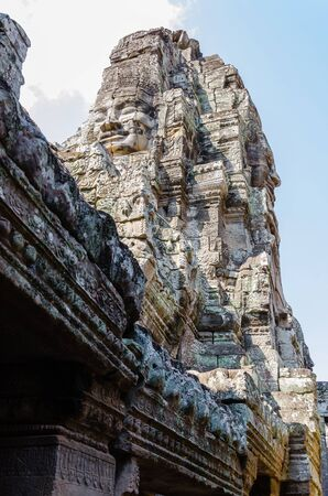 Bayon Temple in Angkor Thom is The Heritage of Khmer Empire at Siem Reap Province, Cambodia. Foto de archivo - 150111391
