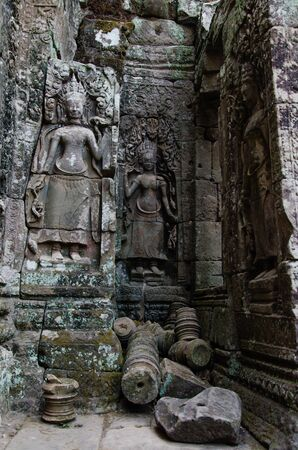 Bayon Temple in Angkor Thom is The Heritage of Khmer Empire at Siem Reap Province, Cambodia. Foto de archivo - 150113172