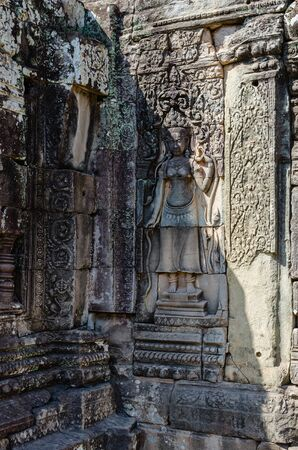 Bayon Temple in Angkor Thom is The Heritage of Khmer Empire at Siem Reap Province, Cambodia.