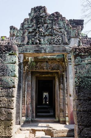 Preah Khan Temple is The One of Ancient Temple In Angkor Thom Area at Siem Reap Province, Cambodia. Foto de archivo