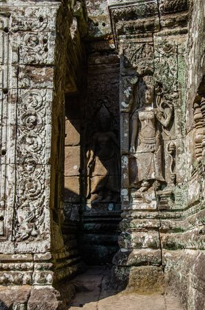 Bayon Temple in Angkor Thom is The Heritage of Khmer Empire at Siem Reap Province, Cambodia. Foto de archivo - 150113049