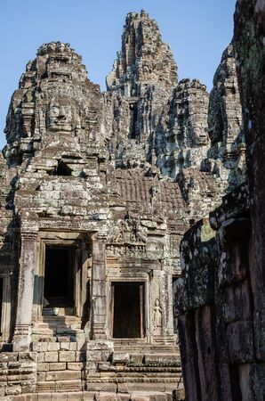 Bayon Temple in Angkor Thom is The Heritage of Khmer Empire at Siem Reap Province, Cambodia. Foto de archivo - 150112399
