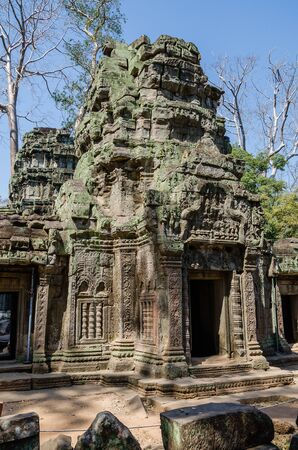 Ta Prohm Temple is The One Attractive Temple In Angkor Thom Area at Siem Reap Province, Cambodia.