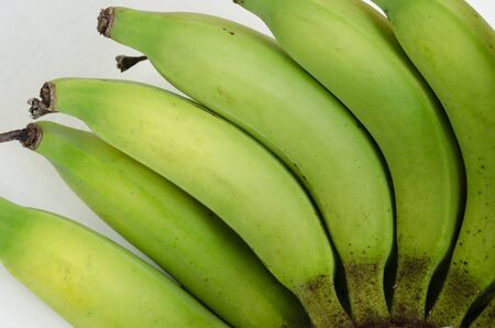 Part of Organic Banana Isolated On White Background for Conceptural Graphic Used. Archivio Fotografico