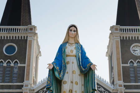 Saint Mary Statue of the Cathedral of the Immaculate Conception Chanthaburi at Chanthaburi Province of Thailand.