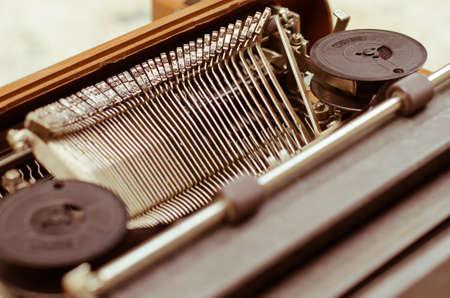 Old Typewriter in Warm Vintage Tone.