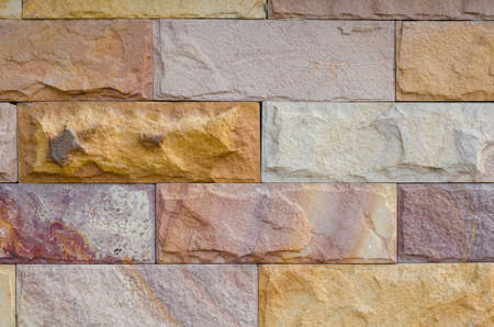 Rough Texture of Stone Brick Wall.