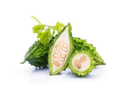 Bitter melon on white background Standard-Bild