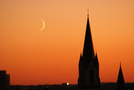 Crescent and church