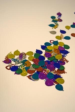 violett: Confetti             Stock Photo